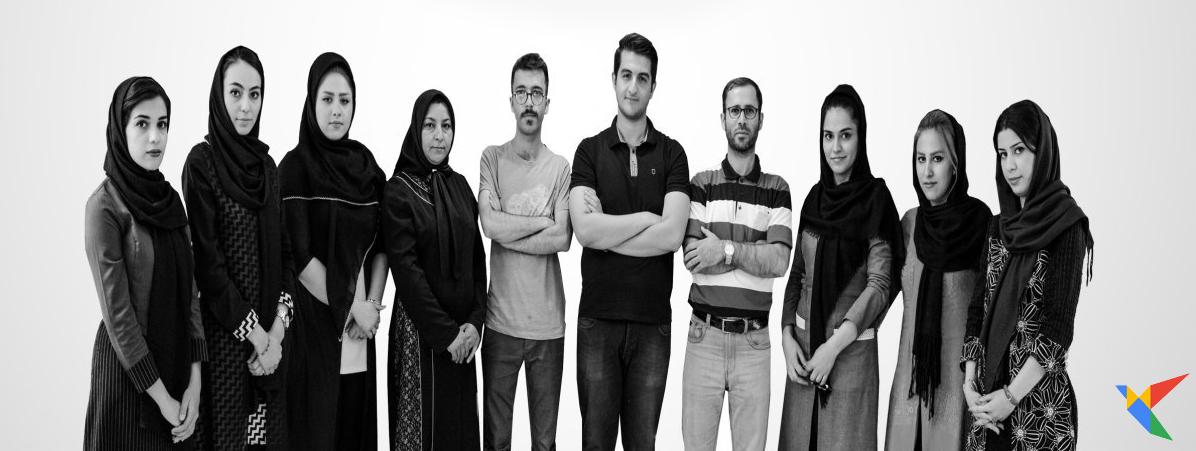 عکسی از تیم فعال در مجموعه سریر نوین