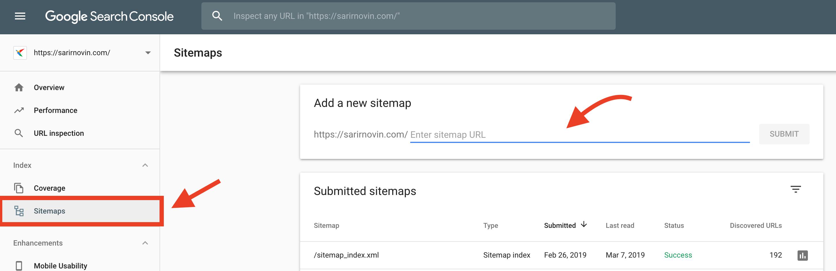 ثبت نقشه سایت در کنسول وبمستر گوگل